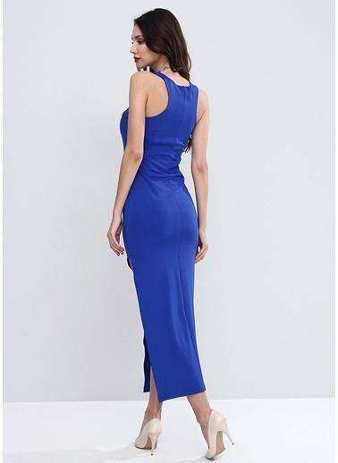 Sense Kolsuz Uzun Dalgıç Abiye Elbise Elb13800 Saks